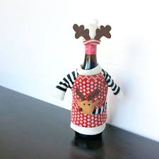 knit ugly christmas sweater for your bottle wine hat