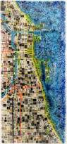 Chicago Areas Map by Map Of Chicago By Renato Foti Art Glass Wall Sculpture Artful Home