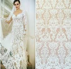newest fashion ivory wedding dress lace fabric lace fabric withe
