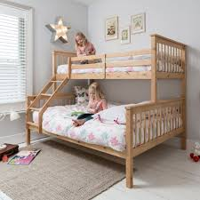 Hannah Triple Bunk Bed In Natural Noa  Nani - Triple bunk beds with mattress