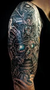 hannya mask samurai tattoo sleeve tattoos samurai google search skeatcher style pinterest