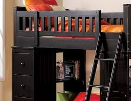 Black Bunk Bed With Desk 10980 Willoughby Black Loft Bed With Desk Bed