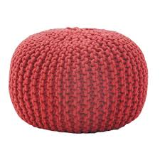 Ottoman Knitted Furniture Knitted Pouf Ottoman Ideas For Bedroom