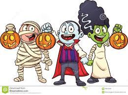 cartoon haloween pictures cartoon halloween kids stock vector image 58815635