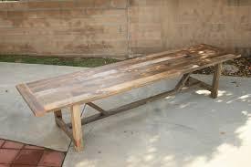 arbor exchange reclaimed wood furniture 12 foot outdoor trestle
