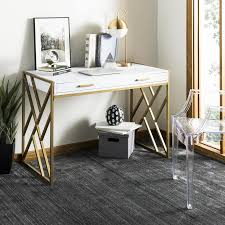safavieh landon writing desk white shop safavieh elaine contemporary white writing desk at lowes com