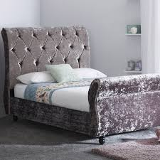 Crushed Velvet Bed New In Rapyal Sleep Saturn Crushed Velvet Bed Frame Stylish
