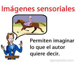 imagenes literarias o contenidos sensoriales ejemplo de imágenes sensoriales