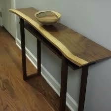 live edge table chicago live edge hall table handmade wood furniture for narrow hall table