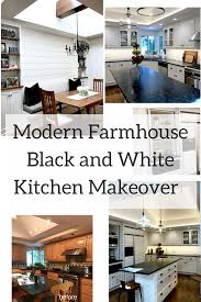 Classic Casual Home by Black And White Modern Farmhouse Kitchen Before And After