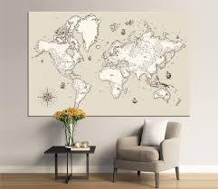 Decorative World Map 78 Best World Map Images On Pinterest World Maps Canvas Prints
