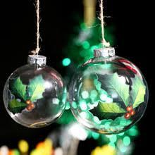 buy clear glass tree ornaments and get free shipping on