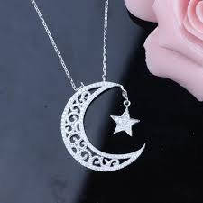 wholesale 925 sterling silver necklace necklace meaning moon