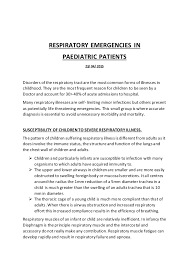 respiratory emergencies in children 2015
