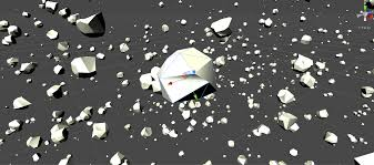 halloween asteroid procedural asteroid field proceduralgeneration