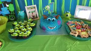 Monster Inc Decorations Monsters Inc Themed 1st Birthday Party Diy Party Decorations