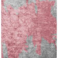 Pink And Black Rugs Nuage Abstract Gray Black Rug