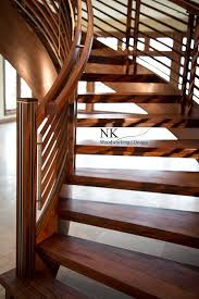 curved staircase stair gallery u2014 nk woodworking u0026 design