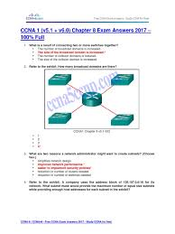 ccna 1 v5 1 v6 0 chapter 8 exam answers 2017 u2013 100 full i