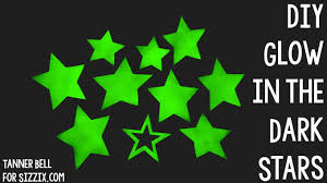 diy glow in the dark stars sizzix kid craft youtube