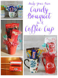How To Make A Candy Bouquet Miss Kopy Kat Make A Candy Bouquet In A Coffee Cup