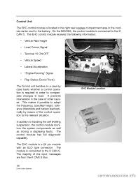 bmw 760li 2004 e66 level control system manual
