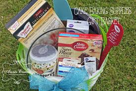 cake gift baskets cake baking gift basket archives diy home decor and crafts
