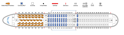 American Airlines Floor Plan Boeing 767 400er 764 United Airlines