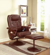 Brown Leather Recliner Chair Sale Amazon Com Reclining Massage Chair With Ottoman Color Dark Brown
