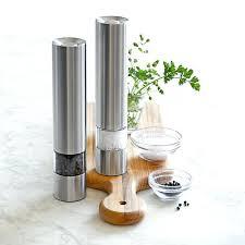electric salt pepper mill grinder with light pepper grinder electric electric spice salt pepper mill grinder