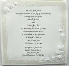 embossed wedding invitations 100 wedding invitations square embossed cards ebay