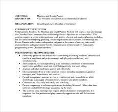 Resume Event Planning Event Planner Resume Wedding Event Planner Resume Accessoires
