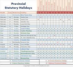 2014 calendar canada 2014 canada statutory holidays
