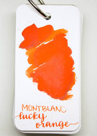 montblanc lucky orange u2014 mountain of ink
