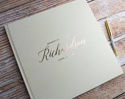 personalized wedding albums book guest book etsy