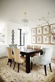 decorating luxury dining room design with gallery wall themes and
