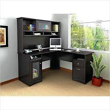 Oak Corner Computer Desk With Hutch Corner L Shaped Office Desk With Hutch Black And Cherry By