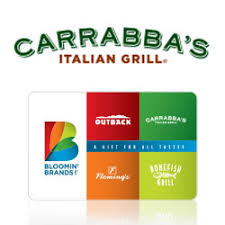 restaurants that offer e gift cards buy carrabba s gift cards at giftcertificates