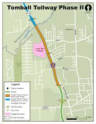 harris county toll road map tomball tollway phase 2 preliminary design approved community