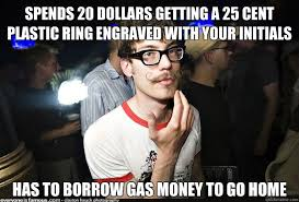 Money Boy Meme - spends 20 dollars getting a 25 cent plastic ring engraved with