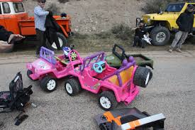pink toy jeep we infiltrate epic barbie jeep battle at moab easter jeep safari