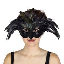 Black Raven Halloween Costume Black Raven Feather Mask