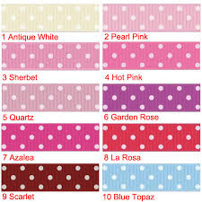 polka dot grosgrain ribbon 100 yards 7 8 inch dots grosgrain ribbon 10 colors to printed