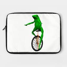 Unicycle Meme - dat boi frog on unicycle meme laptop case teepublic