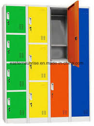Cabinet Clothes China Steel Dormitory Locker Metal Wardrobe Office Clothes Cabinet