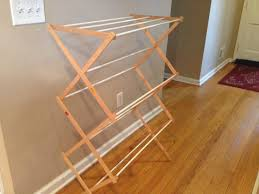clothes drying rack plans two it yourself diy laundry drying rack