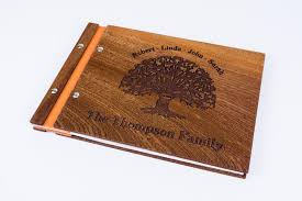 personalized photo albums personalized wooden family photo album scrapbook waldengoods