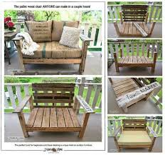 cing chair with table a cool pallet wood chair anyone can make in a couple of hours