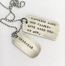 wedding gift necklace wedding day in gift marriage gift mens dog tag necklace