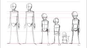 drawing manga tutorial lesson 1 basic skeletal structure youtube